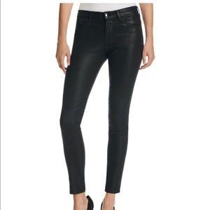 J. Brand super skinny jeans in fearless coated 25